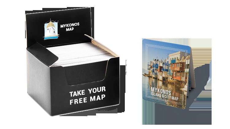 Mykonos Map Display Box