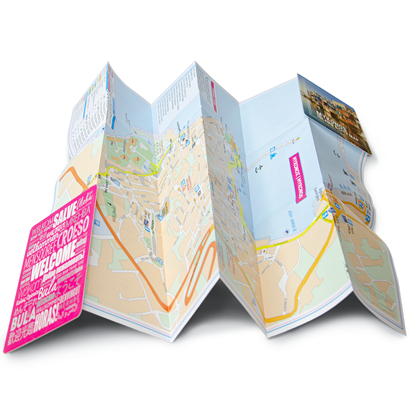 Mykonos Map 6 Panel